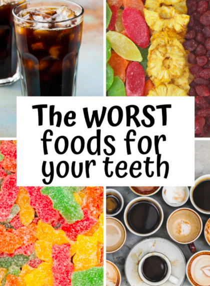 Diet that can lead to caries